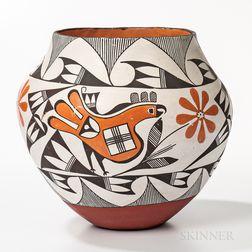 Southwest Polychrome Acoma Pot
