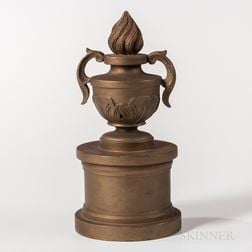Carved and Gold-painted Odd Fellows Altar Flame