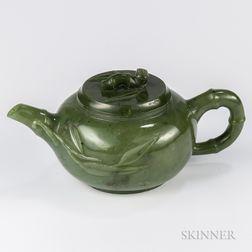 Miniature Jade Teapot