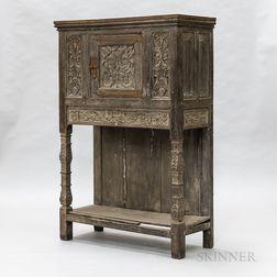 Continental Carved Oak Cupboard