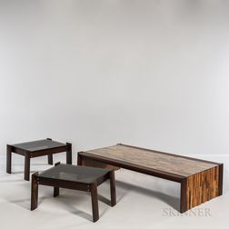 Percival Lafer (Brazilian, b. 1936) Coffee Table and Two End Tables