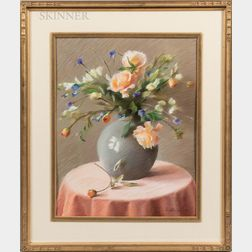 Jean Lightman (American, 20th/21st Century)      Floral Still Life