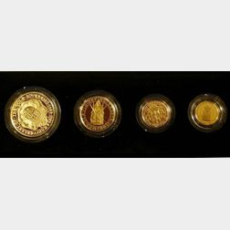 1989 United Kingdom Gold Proof Sovereign Four-Coin Collection