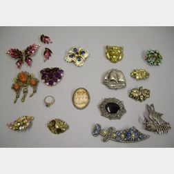 Group of Victorian and Later Costume Jewelry
