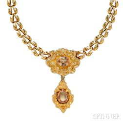 Gold and Topaz Necklace