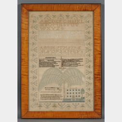 Needlework Mourning Sampler