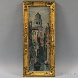 Henry M. Rosenberg (American, 1858-1947), After Andrew Fisher Bunner (American, 1841-1897)    Venice Canal Scene