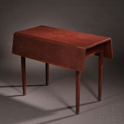 Shaker Red-painted Cherry Drop-leaf Table