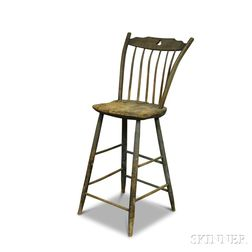 Blue-painted Windsor High Chair
