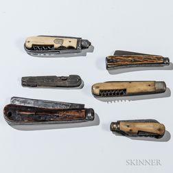 Six Civil War-era Pocketknives