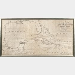 Gulfs of Florida and Mexico. A New Chart of the Gulfs of Florida and Mexico, Including the Windward Passages. Drawn from the Spanish Su