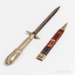Small Sheffield Knife and Sheath