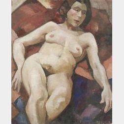 Gerrit A. Beneker (American, 1882-1934)  Reclining Nude