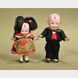 Kestner All-Bisque Kewpie-type Dolls