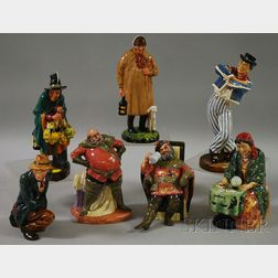 Seven Royal Doulton Porcelain Figures