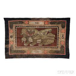 "West Chinese ""Lion Dog"" Carpet"
