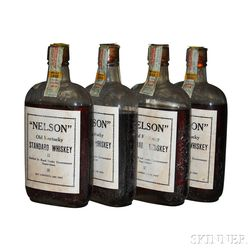 Nelson Old Kentucky Standard Whiskey 7 Years Old 1916, 4 pint bottles
