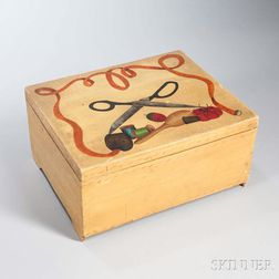 Paint-decorated Sewing Box