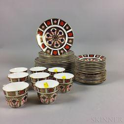 Royal Crown Derby Imari-palette Porcelain Dinner Service for Eight.     Estimate $400-600