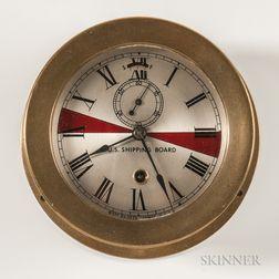 Seth Thomas U.S. Shipping Board Deck Clock