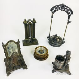 Five Decorative Metal Items