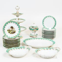 Thirty-one Pieces of English Porcelain Tableware