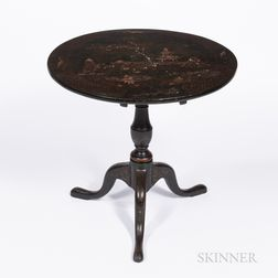 Chinoiserie Round Lacquer Tilt-top Table