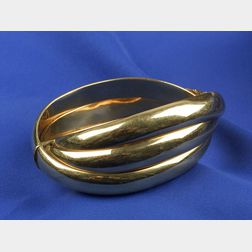 18kt Gold Triple Bangle Bracelet