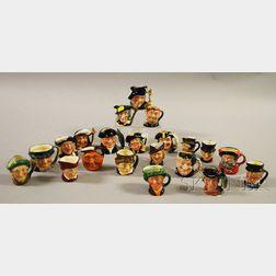 Twenty-one Small Royal Doulton Ceramic Character Jugs
