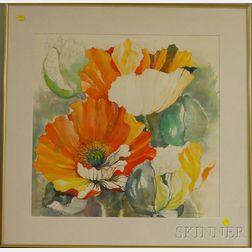 Denise Schwander (Swiss, b. 1945)      Cactus Flowers.