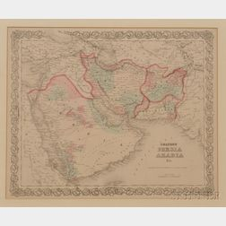 Middle East, Three Framed Maps.