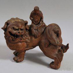 Chinese Pottery Figure of Manjusri