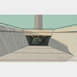 Richard Estes (American, b. 1932)      Arch, St. Louis