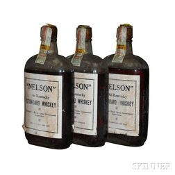 Nelson Old Kentucky Standard Whiskey 7 Years Old 1916, 3 pint bottles