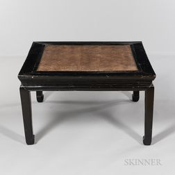 Black-painted Low Square Table, Kang Zhou