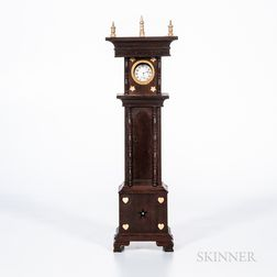 "Inlaid Mahogany ""Tall Case"" Watch Hutch"