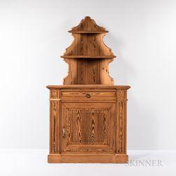 Pine Corner Cabinet