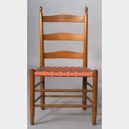 "Shaker Number ""3"" Meeting House Armless Chair"