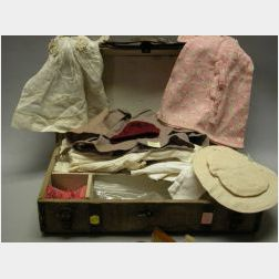 Trunk and Wardrobe for a Girl Doll