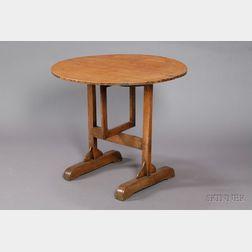 Continental Oak Circular Table