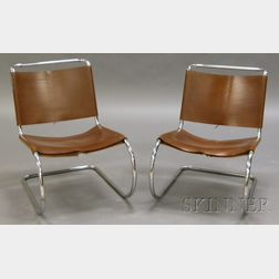 Two Knoll Lounge Chairs