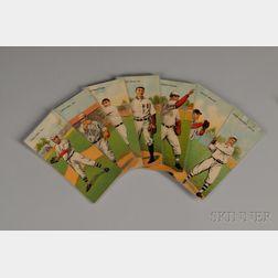 Fourteen 1911 T201 Mecca Cigarettes Double Folder Baseball Cards