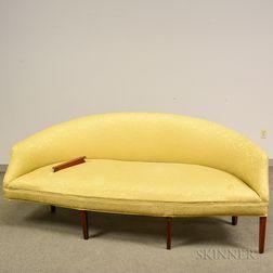 Federal Inlaid and Upholstered Mahogany Sofa