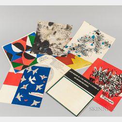 Six Menus from Ristorante La Colomba, Venice, Italy, and a Copy of Aspen Magazine