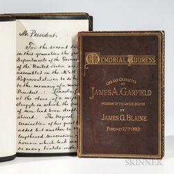 Blaine, James G. (1830-1893) James A. Garfield, Memorial Address.