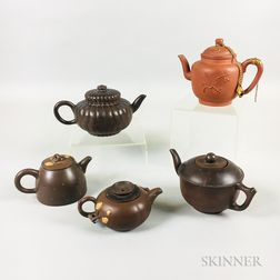 Four Yixing Teapots
