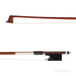 French Silver-mounted Violin Bow, Peccatte School