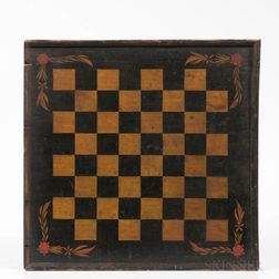 Painted Checkers Game Board