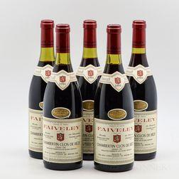 Faiveley Chambertin Clos de Beze 1991, 5 bottles