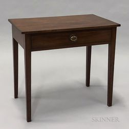 Georgian-style Mahogany One-drawer Worktable